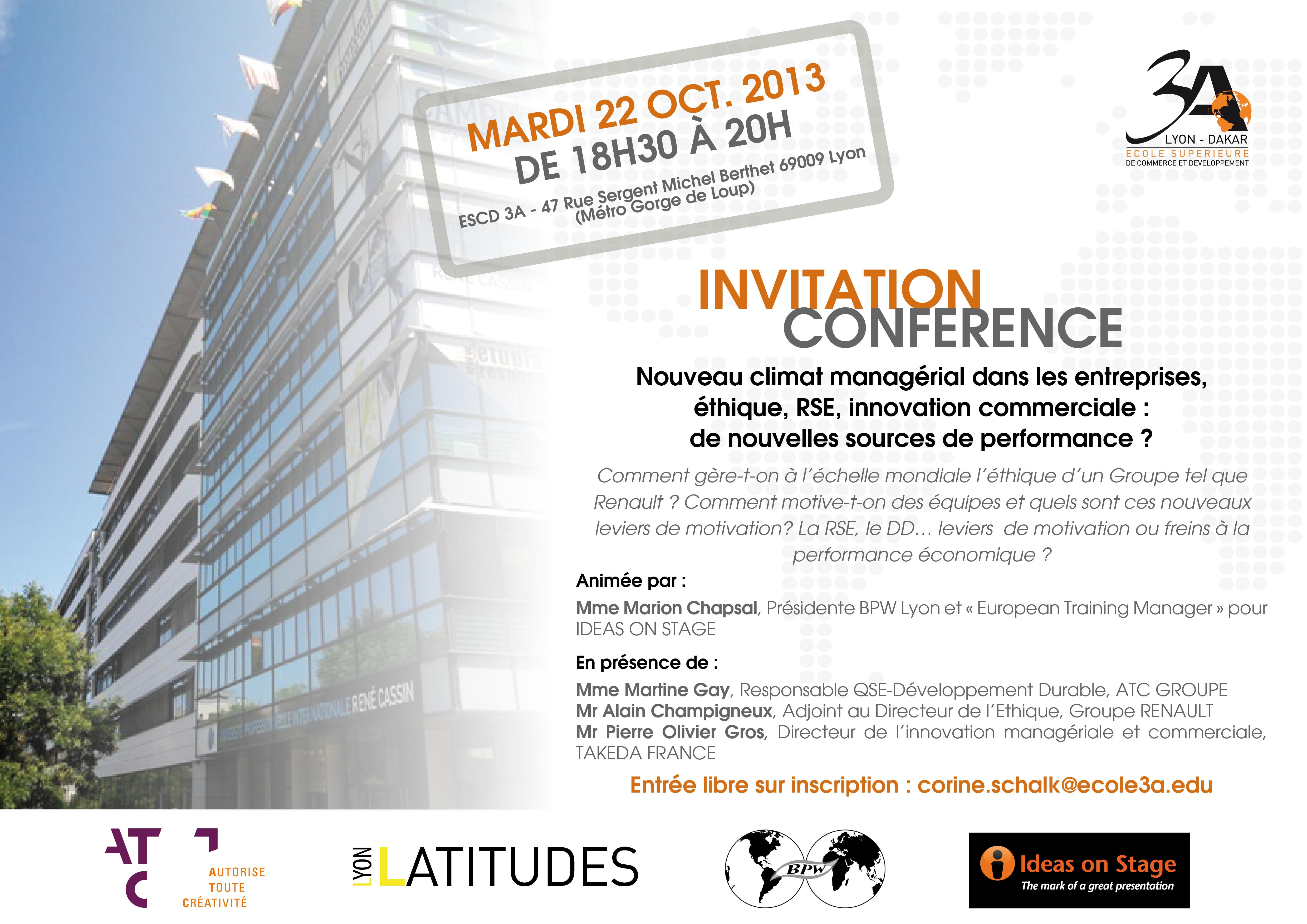 Conférence « Nouveau climat managérial dans les entreprises »