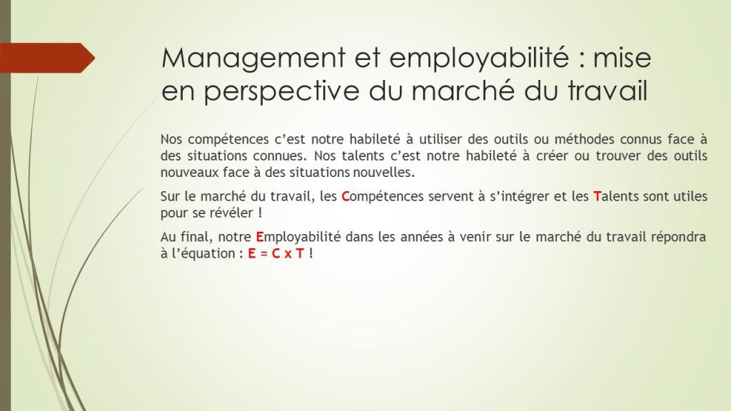 management et employabilité